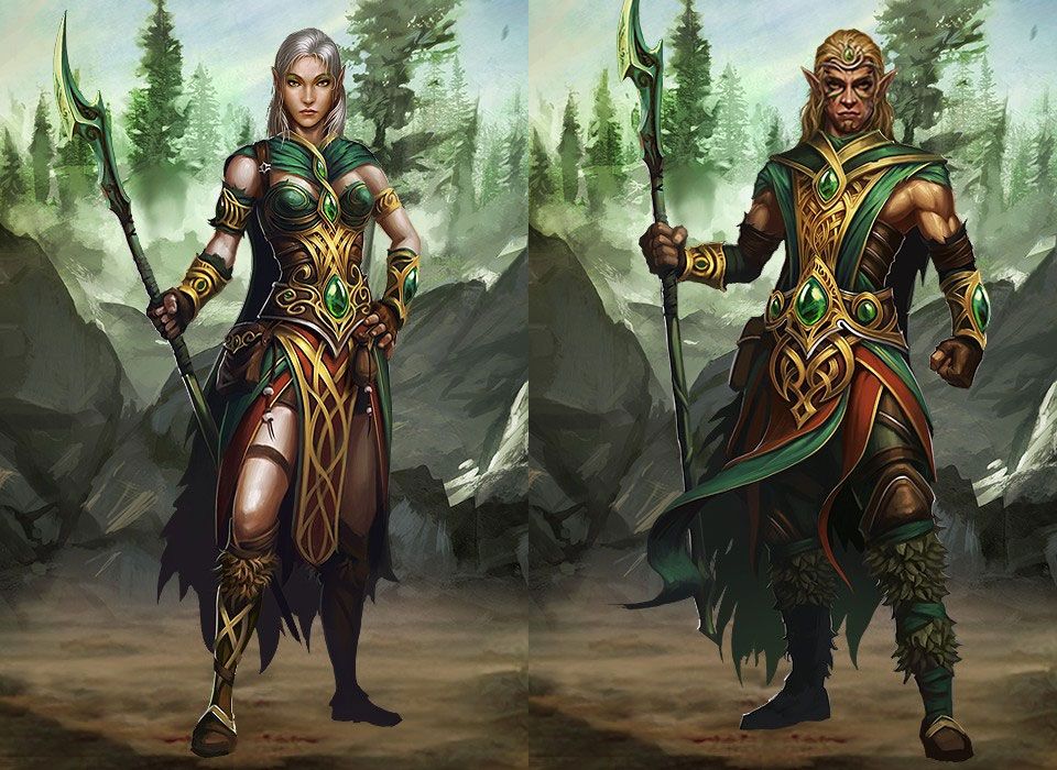 male and female druids